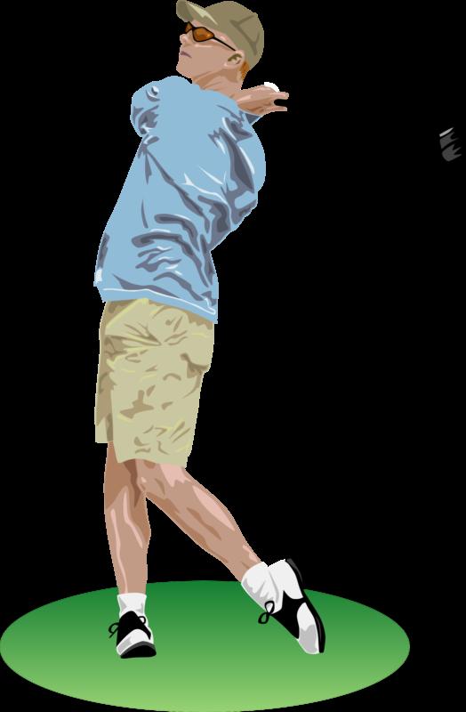 svg freeuse download Golfer clipart summer. Transparent free for