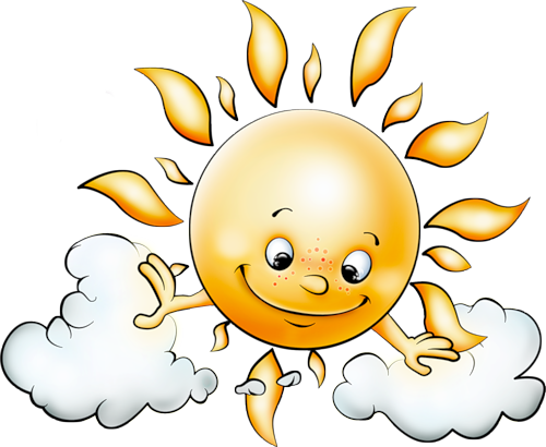 free Sun with clouds free. Good clipart