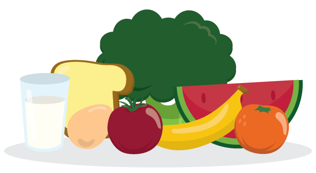 banner library library Healthy foods for kids clipart. Family health can be.