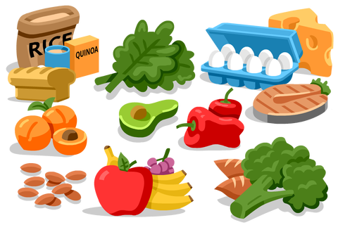 image transparent stock Healthy eating for runners. Good clipart nutritious food