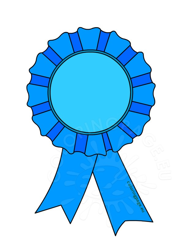 image black and white Good clipart rosette. Award clip art coloring