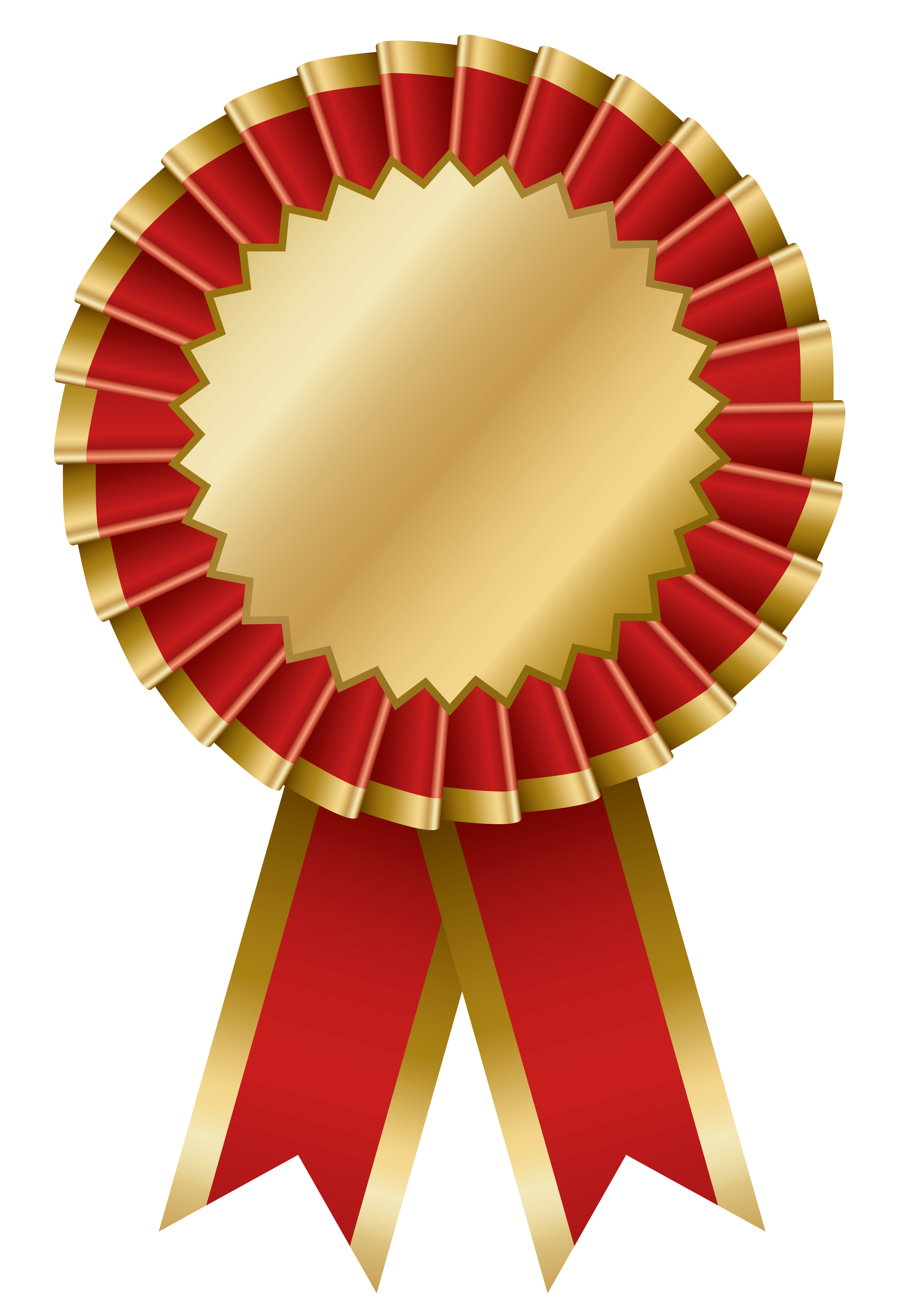 stock Red and gold transparent. Good clipart rosette
