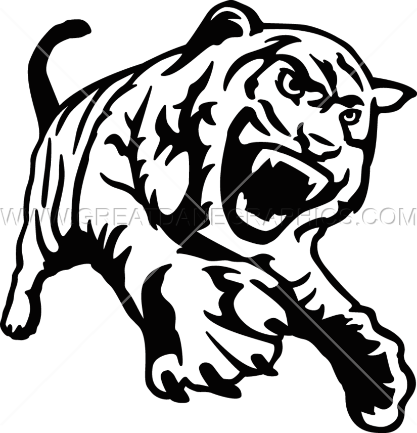 svg library drawing tiger full body #95734215