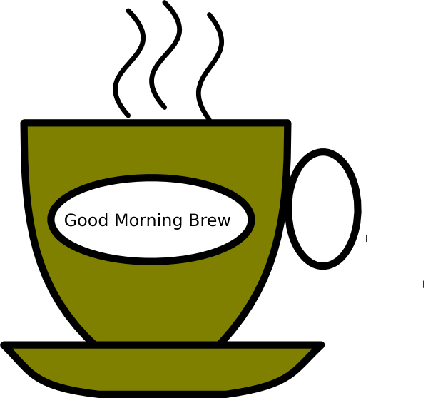 clip art black and white stock Brew clip art at. Good morning coffee clipart