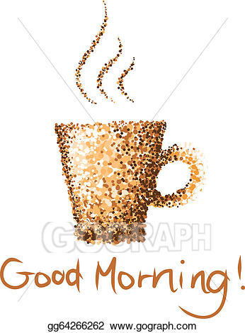 picture download Eps vector cup dot. Good morning coffee clipart