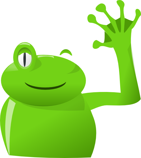 graphic freeuse stock Images cliparts co frog. Goodbye clipart
