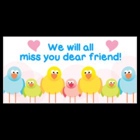 png Goodbye clipart banner. Custom farewell going away