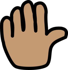 image free Goodbye clipart bye. Hand wave clip art