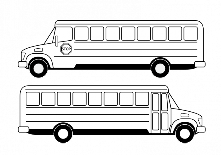 graphic library library Vector drawing public domain. Goodbye clipart school bus