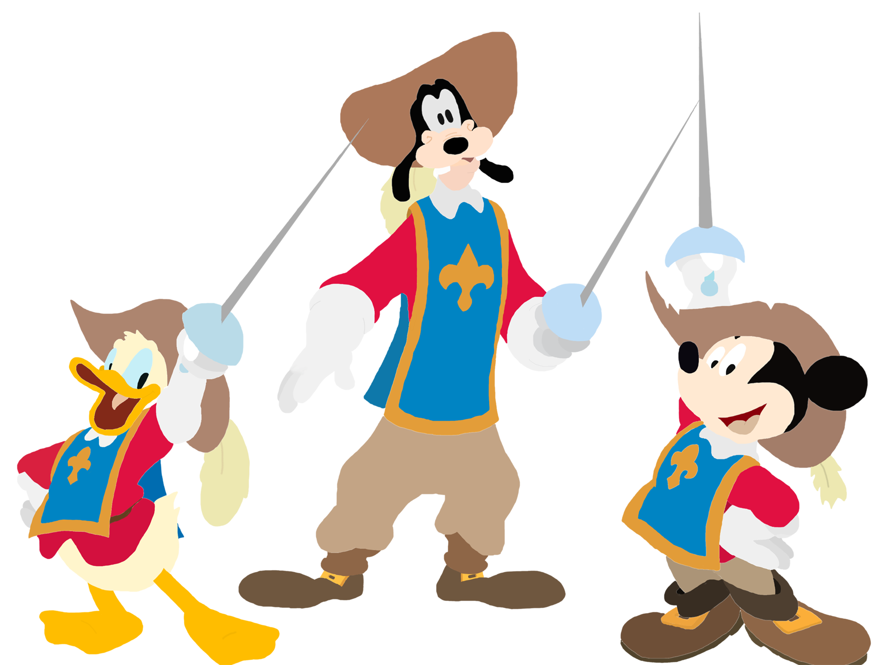graphic freeuse download Image mickey donald the. Goofy clipart wiki