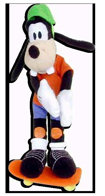 clipart Goofy Plush Toy Skateboarding Disney Stuffed Toy