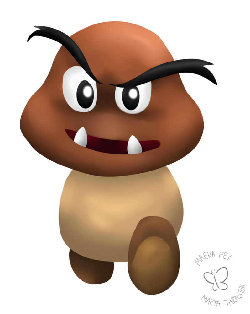 picture transparent Goomba drawing. Daily a coming straight