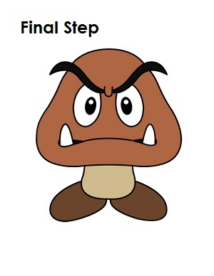 clip transparent download Goomba drawing. How to draw a