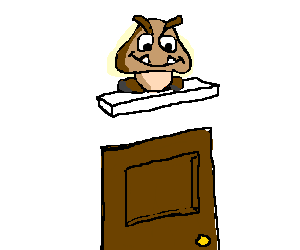 jpg library library Creepy lies in wait. Goomba drawing