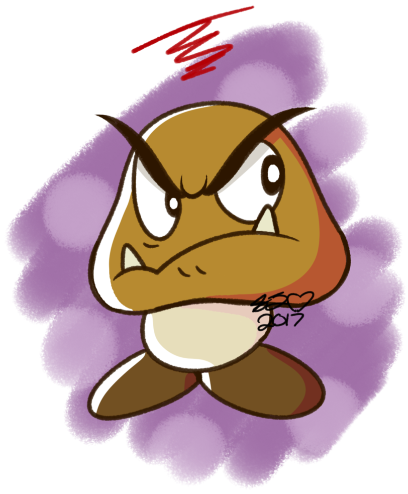 picture royalty free Goomba drawing. Dad day by halabaluu