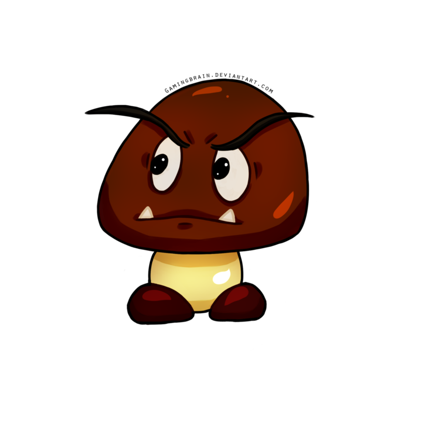 svg black and white library By gamingbrain on deviantart. Goomba drawing