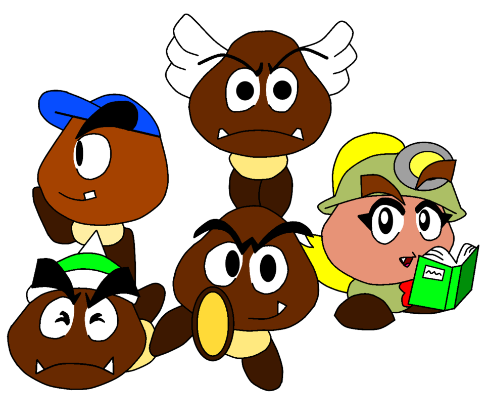 png library goomba drawing color #113260540
