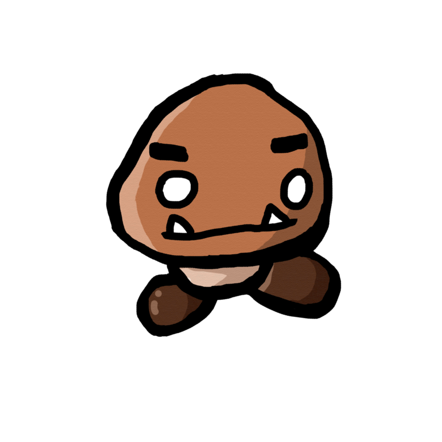 image black and white download Doodle by bltspirit on. Goomba drawing
