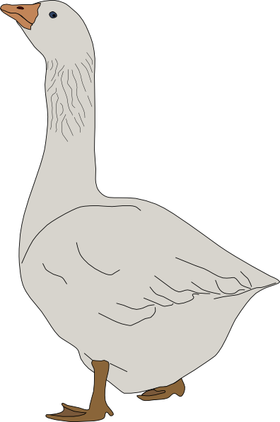 png black and white Goose clipart. Clip art at clker