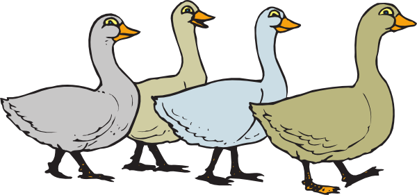 picture black and white Duck walk free on. Goose clipart