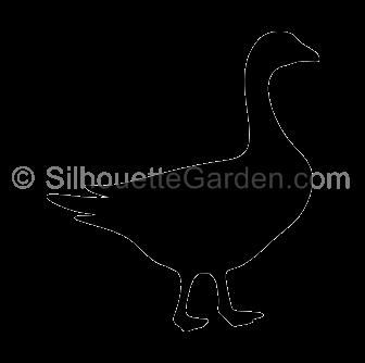 clip art black and white stock Goose clipart stencil. Silhouette clip art download