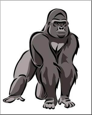 jpg transparent library Gorilla clipart. Clip art color i