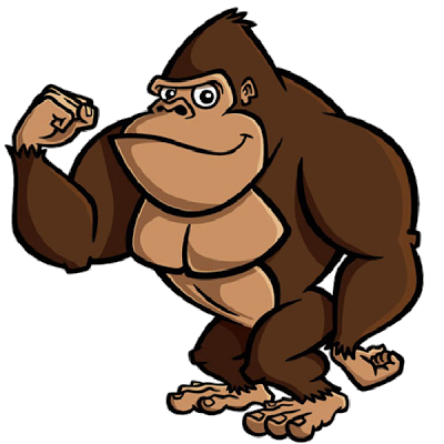 image black and white stock Ape clipart brown. Gorilla realistic cartoon free