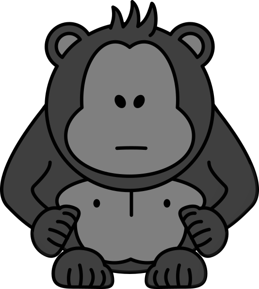 jpg library library With no eyes clip. Gorilla clipart