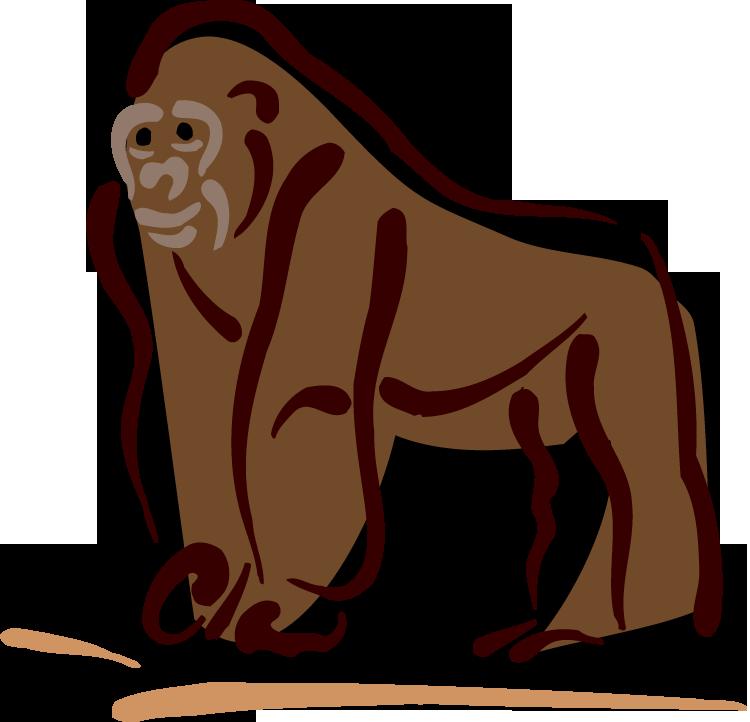 image free stock Free. Gorilla clipart