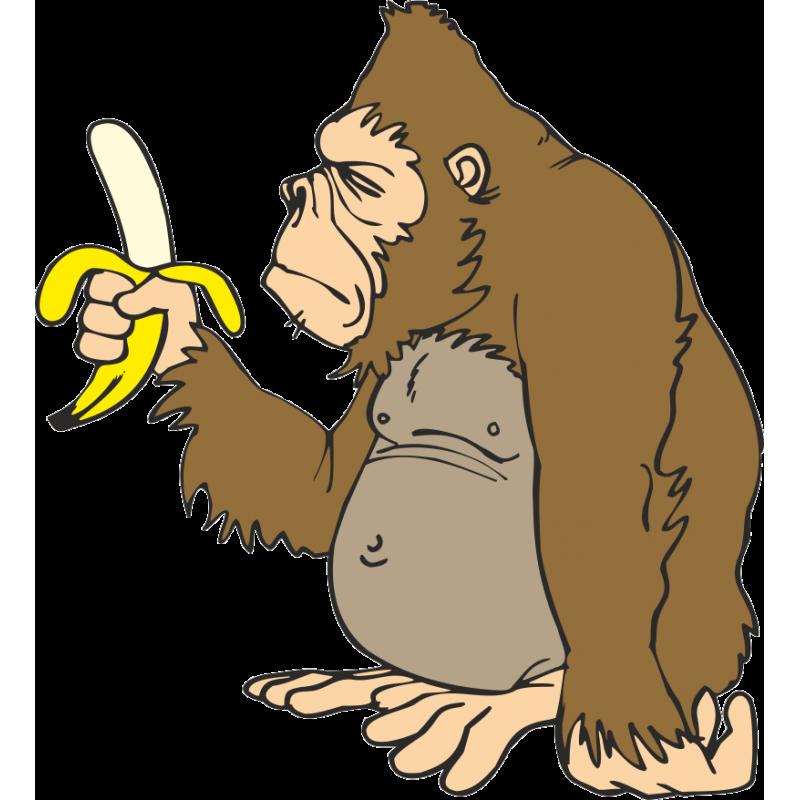 svg transparent Clipart ape. Gorilla banana animation clip