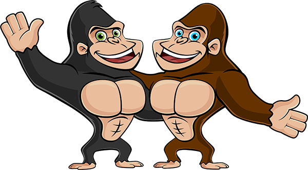 picture royalty free download Gorilla clipart banana. Graffiti prevention programs property