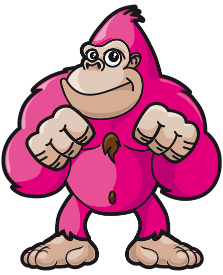 picture black and white library Gorilla clipart banana. Go n bananas family