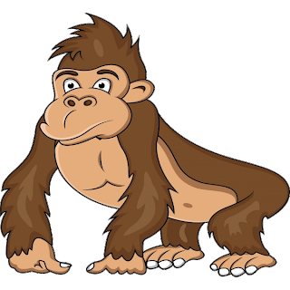 clipart black and white library Gorilla clipart cartoon. Brown s monkey images