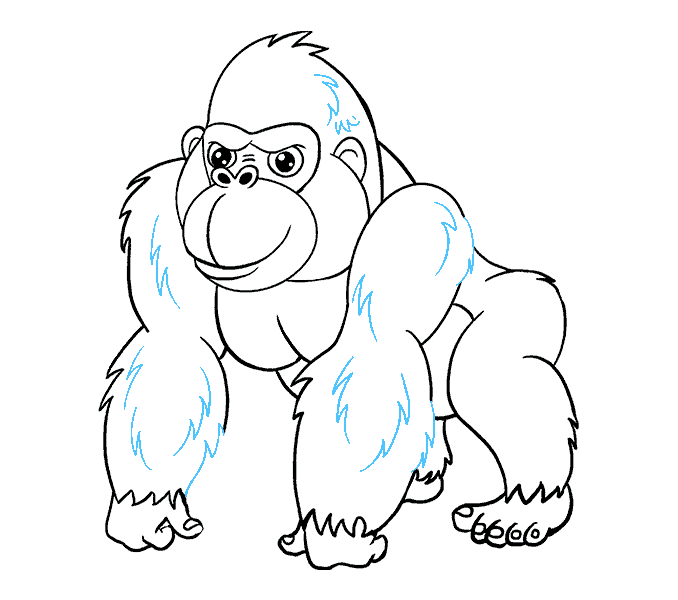 graphic freeuse library Simple at getdrawings com. Gorilla clipart drawing