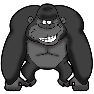 svg royalty free library Gorilla clipart realistic cartoon. Kawaii free on dumielauxepices