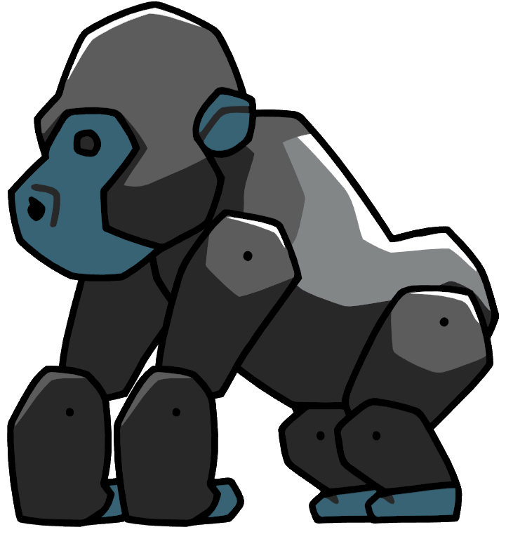 banner black and white download Big animal free on. Ape clipart silverback gorilla.