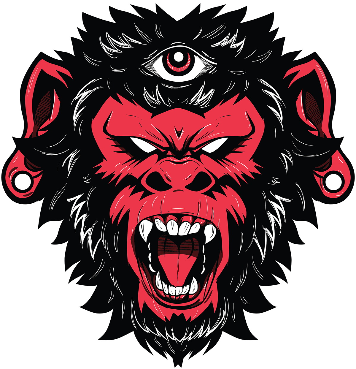 clipart royalty free download Ape clipart angry gorilla. Demon monkey vector illustration