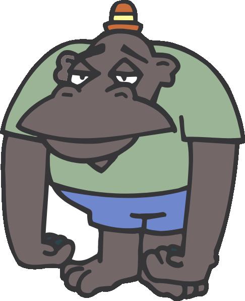 image download Gorilla clipart sad. Free cute cartoon white