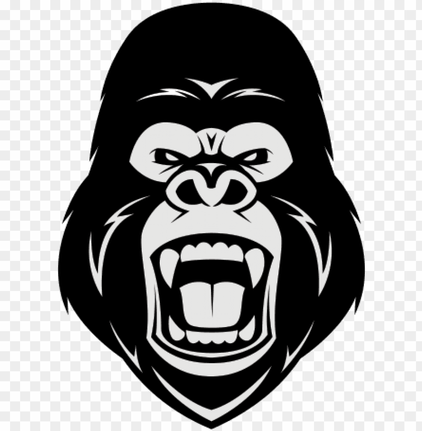 picture free library Ape clipart angry gorilla. Free download illustration .