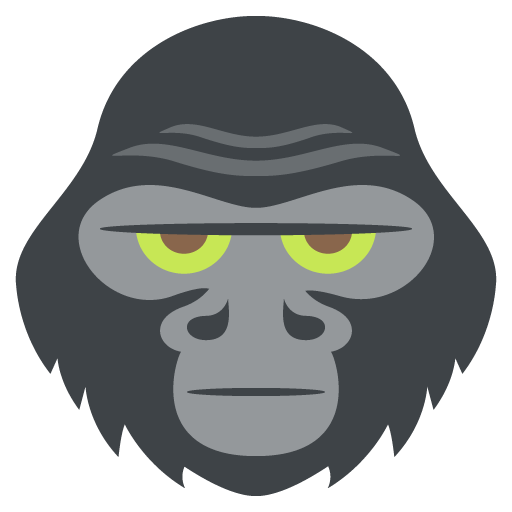 banner royalty free download Gorilla Face Silhouette at GetDrawings
