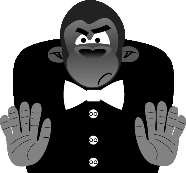 image transparent stock Ape clipart gorilla. Toon clip art at