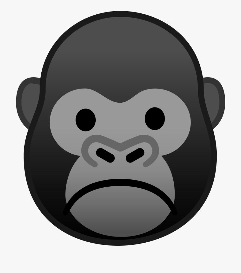 svg free download Emoji transparent . Ape clipart gorilla face