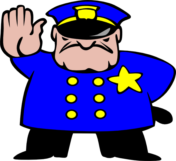 vector library stock Supermarket clipart police post. The body tracking government