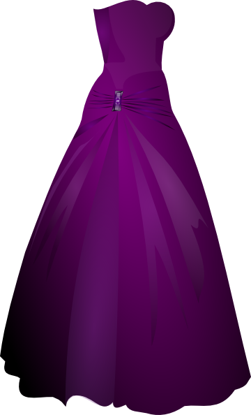 clipart black and white library Gown clipart. Purple clip art at