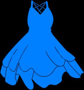 graphic transparent stock Blue dress clip art. Gown clipart