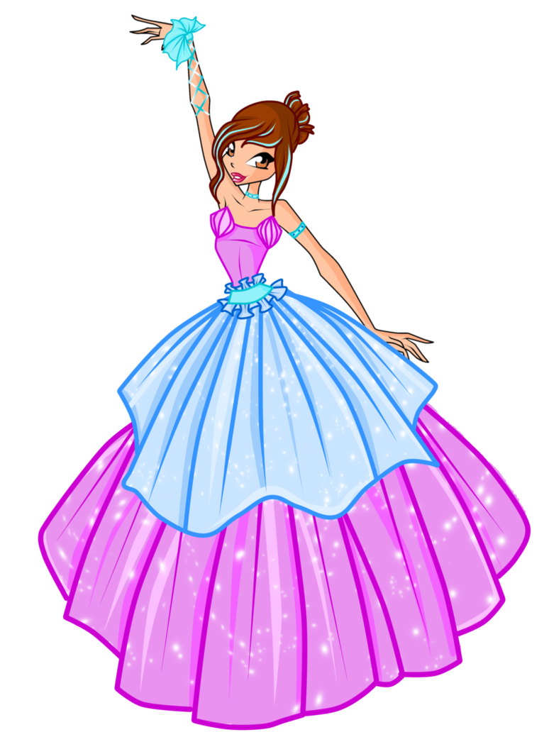 png freeuse download Winx com ball by. Gown clipart anime dress