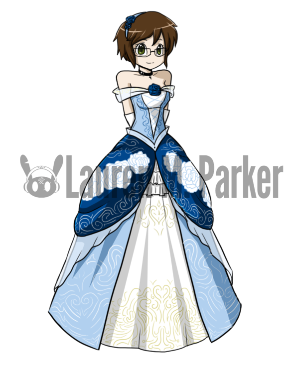 jpg transparent library Fancy ball by hero. Gown clipart anime dress