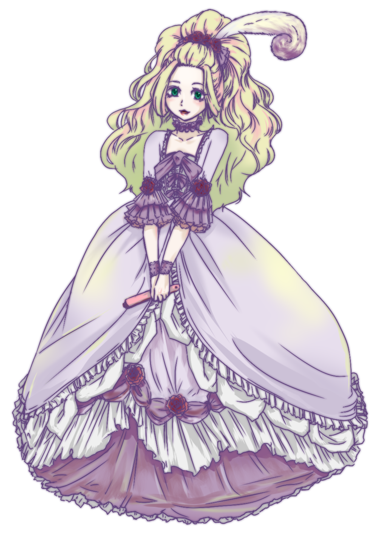 picture black and white download Rococo by gaedaegun on. Gown clipart anime dress