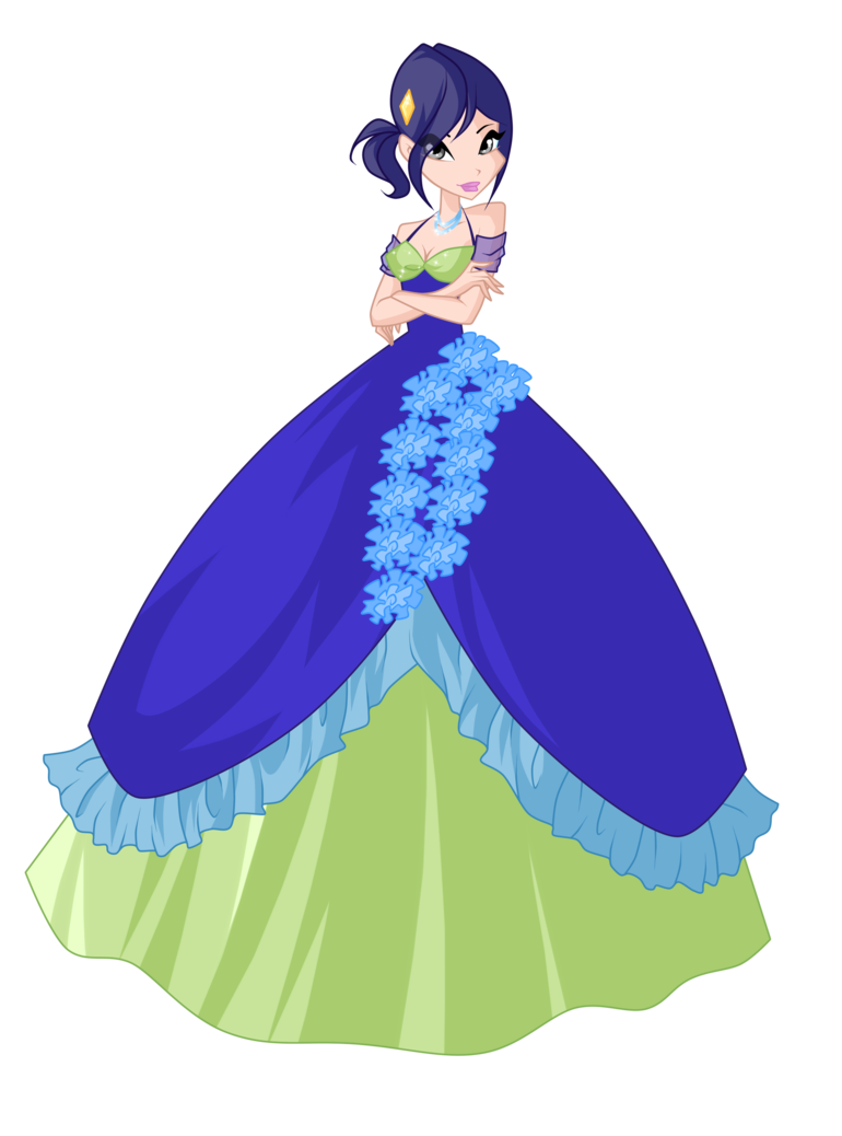 picture royalty free stock Gown clipart anime dress. Rewelly flower princess ball