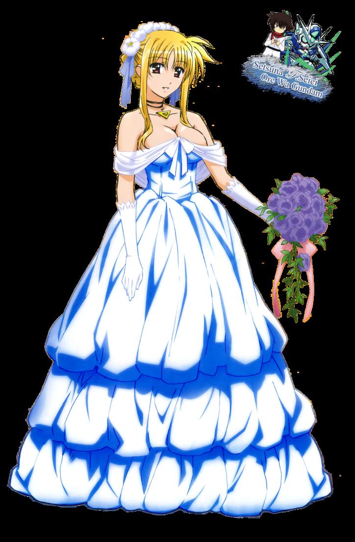 banner download Fate testarossa set wedding. Gown clipart anime dress